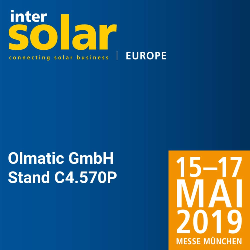Participation in Intersolar Europe – Messe München – Germany